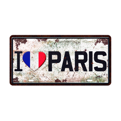 PLACA LOVE PARIS 5252