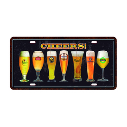 PLACA CHEERS 7 TACAS 5269